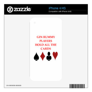 gin rummy decals for iPhone 4S