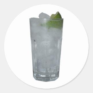 Gin Tonic Classic Round Sticker