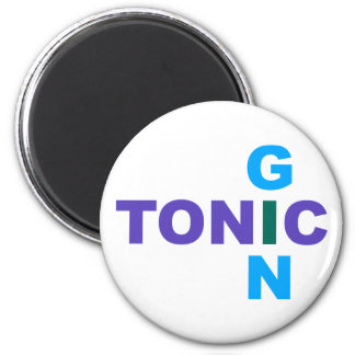 Gin Tonic Longdrink cocktail 2 Inch Round Magnet