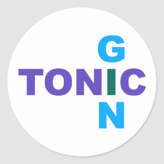 Gin Tonic Longdrink cocktail Classic Round Sticker