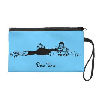 Gina Diva Leisure Queen bi-colour Wristlet Bag