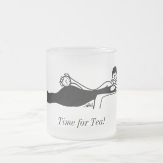 Gina Diva Leisure Queen Line-art by B.B.B. Frosted Glass Coffee Mug