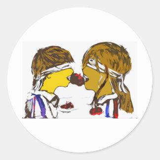 gincana_final classic round sticker