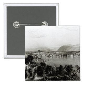 Ginebra de Coligny, grabado por Roberto Wallis Pin Cuadrado