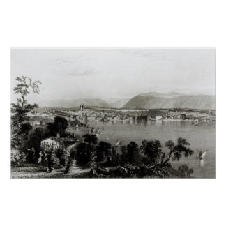 Ginebra de Coligny, grabado por Roberto Wallis Póster