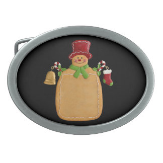 Ginerbread Man Oval Belt Buckle