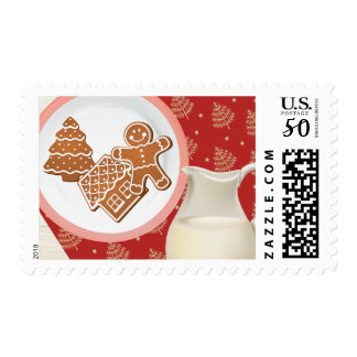 Ginergerbread Cookies and Milk Postage