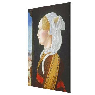 Ginevra Bentivoglio, c. 1474- 77 Canvas Print