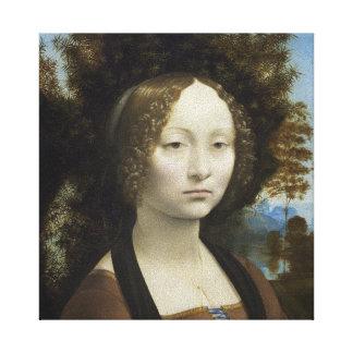 Ginevra de' Benci by Leonardo da Vinci Canvas Print