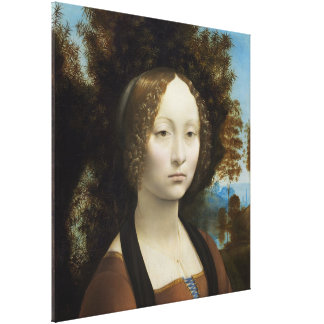Ginevra de Benci by Leonardo da Vinci Canvas Print