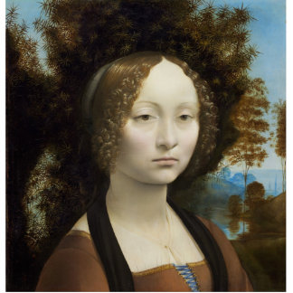 Ginevra de Benci by Leonardo da Vinci Cutout