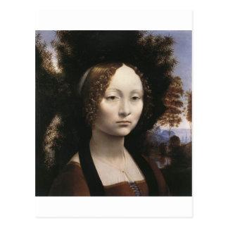 Ginevra de' Benci by Leonardo Da Vinci Postcard