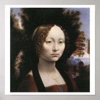 Ginevra de' Benci by Leonardo Da Vinci Poster