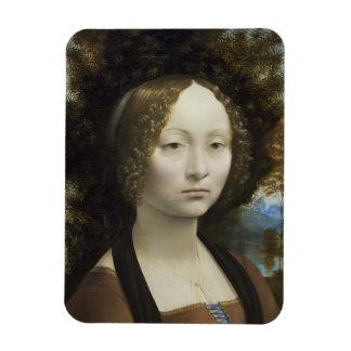 Ginevra de Benci by Leonardo da Vinci Rectangular Photo Magnet
