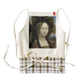 Ginevra de Benci de Leonardo da Vinci Delantal Zazzle HEART
