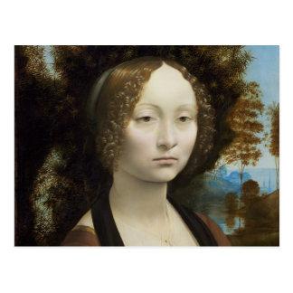 Ginevra de Benci de Leonardo da Vinci Postal