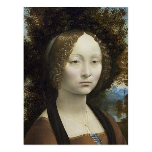 Ginevra de Benci de Leonardo da Vinci Tarjetas Postales
