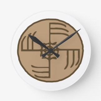 Ginfaxi Stave Sigil Round Clock