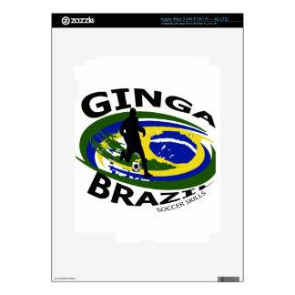 Ginga Big logo black/yellow.blue iPad 3 Decals
