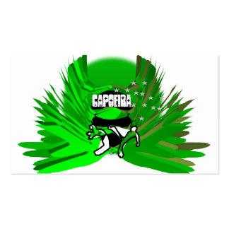 ginga del hacha del capoeira de los artes marciale tarjetas de visita