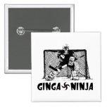 Ginga Ninja - Hockey Goalie 2 Inch Square Button
