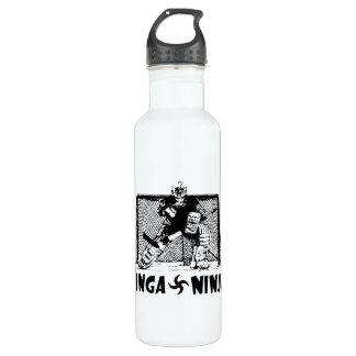 Ginga Ninja - portero del hockey Botella De Agua De Acero Inoxidable