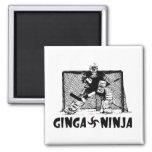 Ginga Ninja - portero del hockey Imán De Nevera
