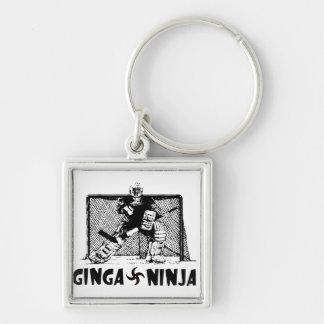 Ginga Ninja - portero del hockey Llaveros Personalizados