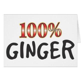 Ginger 100 Percent Card