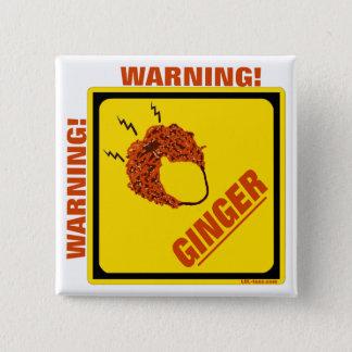 Ginger Alert! Pinback Button
