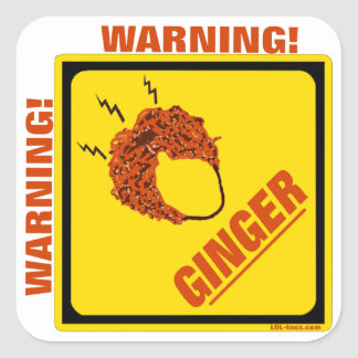 Ginger Alert! Square Sticker