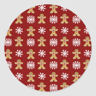 Ginger and Snow Classic Round Sticker