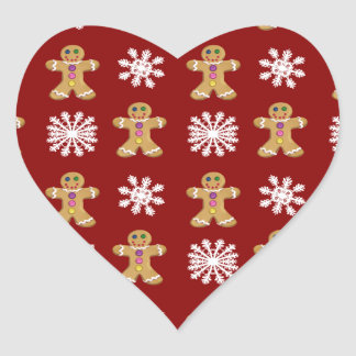 Ginger and Snow Heart Sticker