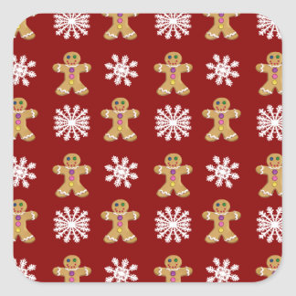 Ginger and Snow Square Sticker