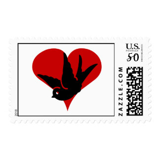 Ginger and Tonic Swallow Heart Graphic Postage Sta