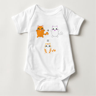 Ginger and white cats funny baby bodysuit