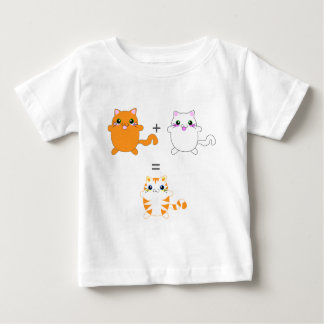 Ginger and white cats funny baby T-Shirt