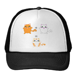 Ginger and white cats funny trucker hat
