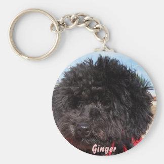 Ginger Basic Round Button Keychain