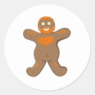 Ginger Bear Man Classic Round Sticker