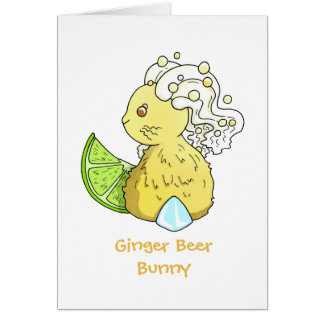 Ginger Beer Bunny Card