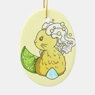 Ginger Beer Bunny Ceramic Ornament