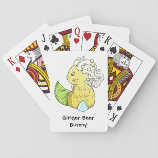 Ginger Beer Bunny Playing Cards