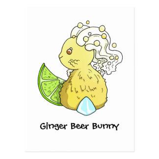Ginger Beer Bunny Postcard