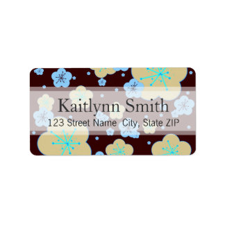Ginger Blossoms Personalized Address Label