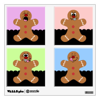 Ginger Boys Gingerbread Man Cookie Set Wall Skin