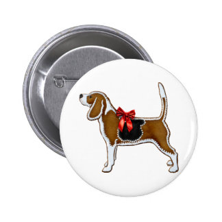 Ginger Bread Beagle Christmas Cookie Pinback Buttons