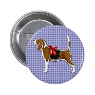 Ginger Bread Beagle Christmas Cookie Pinback Button