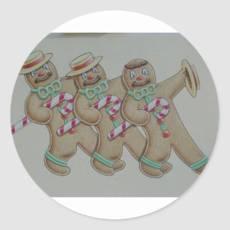 Ginger Bread Cookie Men Classic Round Sticker