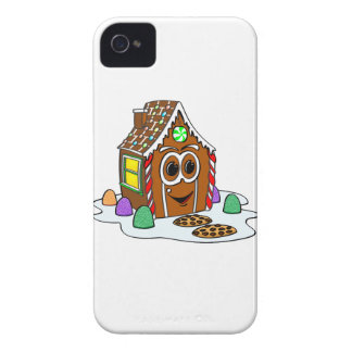 Ginger Bread House Cartoon iPhone 4 Cover